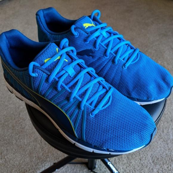 8bf8fe327a88a6 Puma Blue Yellow Athletic Running Shoes. M 5add050f2c705d91c79b1d55